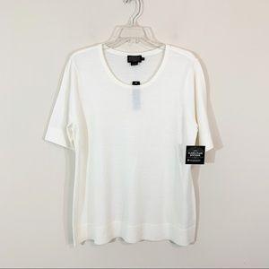 NWT Pendleton • Ivory Merino Wool Sweater Size XL